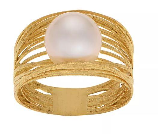 แหวนแต่งงานหัวไข่มุก
